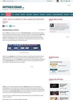 Test: Tech 21 Bass Fly Rig, Effektgerät für Bass