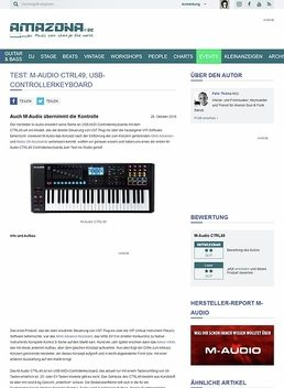 Test: M-Audio CTRL49, USB-Controllerkeyboard
