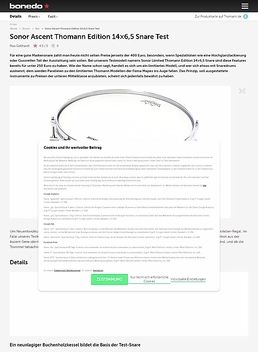 "14""x6,5"" Thomann Edition Snare"