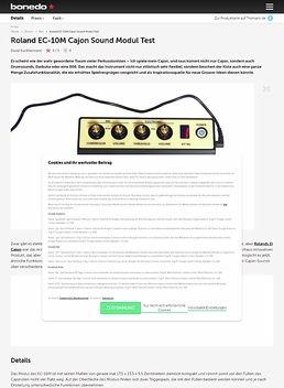 Roland EC-10M Cajon Sound Modul