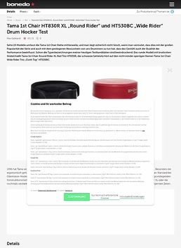 "Tama 1st Chair HT830R XL ""Round Rider"" und HT530BC ""Wide Rider"" Drum Hocker"