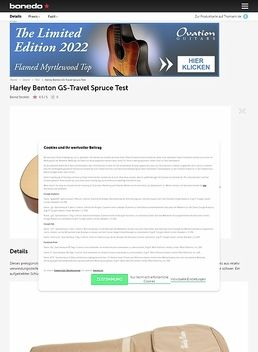 Harley Benton GS-Travel Spruce