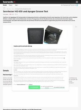 Sennheiser HD 650 und Apogee Groove