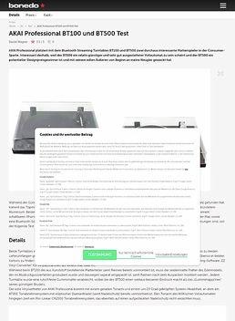 AKAI Professional BT100 und BT500