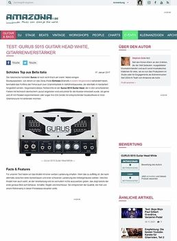 Gurus 5015 Guitar Head White