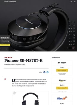 Pioneer SE-MS7BT-K Black
