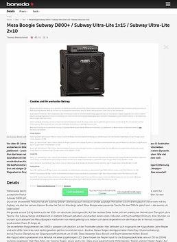 Mesa Boogie Subway D800+ / Subway Ultra-Lite 1x15 / Subway Ultra-Lite 2x10