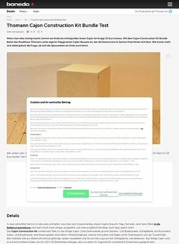 Thomann Cajon Construction Kit Bundle