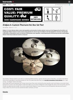 Zildjian A-Custom Thomann ltd. Cymbal Set
