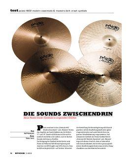 Paiste F602 Modern Essentials & Masters Dark Crash Cymbals