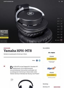 Yamaha HPH-MT8