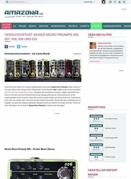 Mooer Micro Preamps 006, 007, 008, 009 und 010