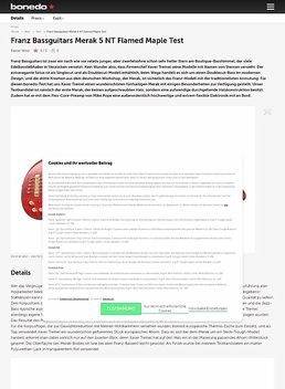 Franz Bassguitars Merak 5 NT Flamed Maple