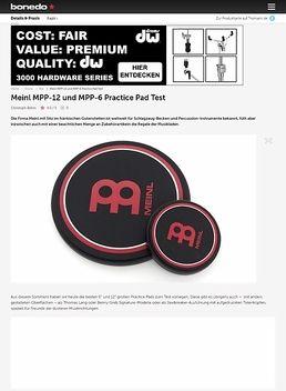 Meinl MPP-12 und MPP-6 Practice Pad