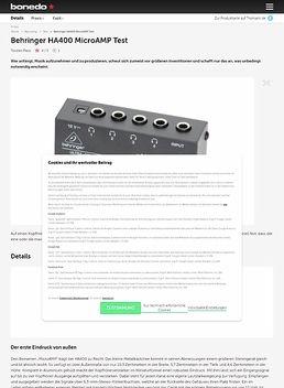 Behringer HA400 MicroAMP