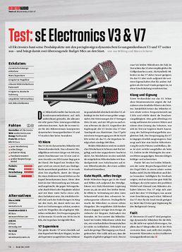 sE Electronics V3 & V7, Behringer X-Touch mini, Mindflood Keyblock