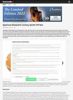 Epiphone Masterbilt Century Zenith VN Test