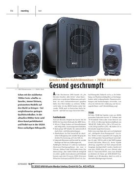 Genelec 8020A Nahfeldmonitore + 7050B Subwoofer