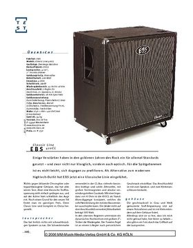 EBS Classic Line 410CL, Bass-Box
