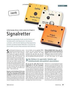 Test: Lehle Sunday Driver, Little Lehle II & P-Split II – Signalretter