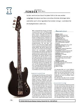 Fender Aerodyne Jazz Bass, E-Bass