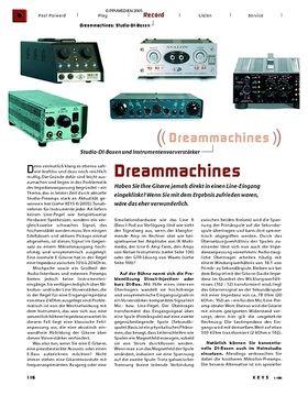 Dreammachines: Studio-DI-Boxen und Vorverstärker