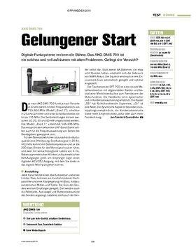 Test: AKG DMS 700 - Gelungener Start