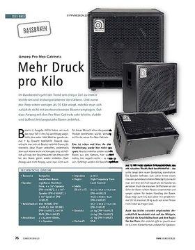 Test: Ampeg Pro Neo Cabinets – Mehr Druck pro Kilo
