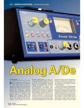 Analog A/De: Focusrite ISA One Digital