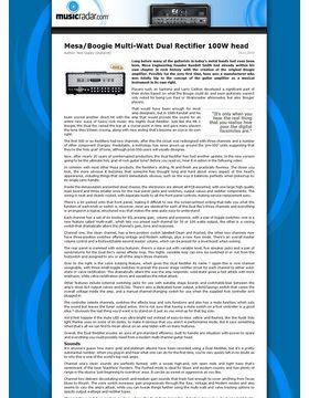 Mesa/Boogie Multi-Watt Dual Rectifier 100W head
