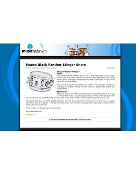 Mapex Black Panther Stinger Snare