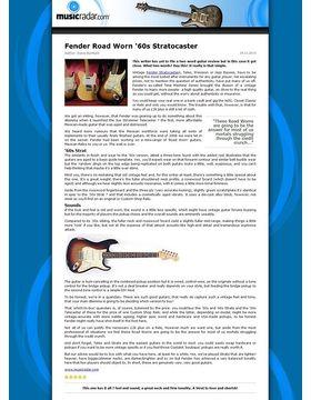 Fender Road Worn '60s Stratocaster