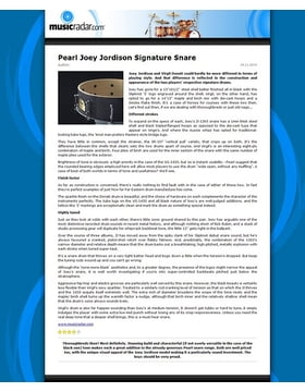 Pearl Joey Jordison Signature Snare