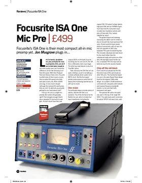 Focusrite ISA One Mic Pre