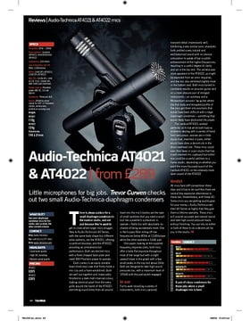 AudioTechnica AT4021 and AT4022