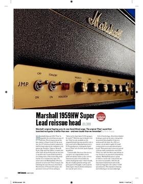 Marshall 1959HW Super Lead reissue head