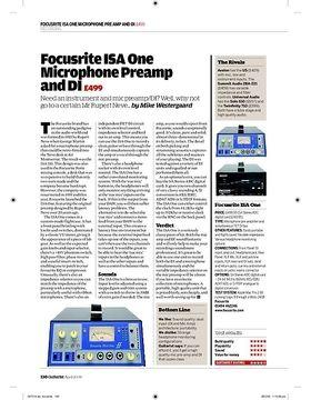 Focusrite ISA One Microphone Preamp and DI