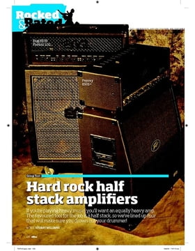 Hard rock half stack amplifiers