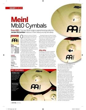 Meinl Mb10 Cymbals