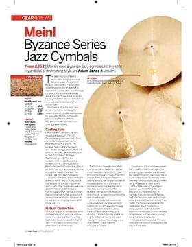 Meinl Byzance Series Jazz Cymbals