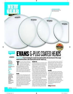 Evans GPlus Coated heads