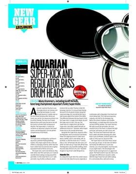Aquarian SUPERKICK AND REGULATOR BASS  DRUM HEADS