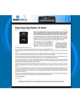 Engl Amps Gig Master 15 Head