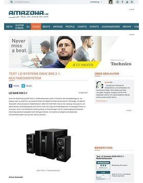 Test: LD Systems DAVE 8XS 2.1-Multimediasystem