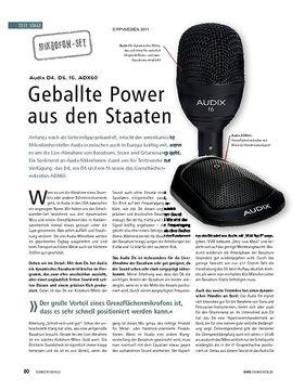 Test: Audix D4, D6, f6, ADX60 - Geballte Power aus den Staaten