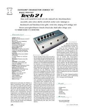 Tech21 SansAmp Character Series VT Bass Deluxe, Bass-Preamp