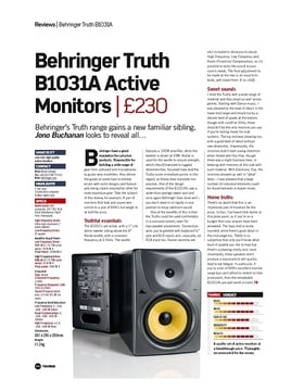 Behringer Truth B1031A Active Monitors