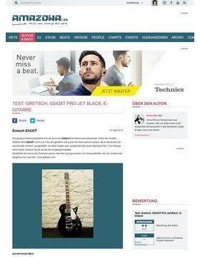 Test: Gretsch, G5435T Pro Jet Black, E-Gitarre