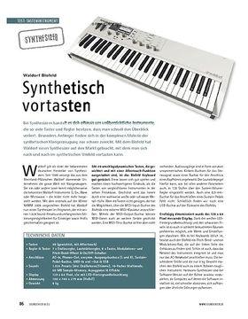 Test Synthesizer: Waldorf Blofeld