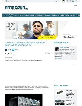 Top News: Kemper Amps veröffentlicht neue Amp Profiles und FX